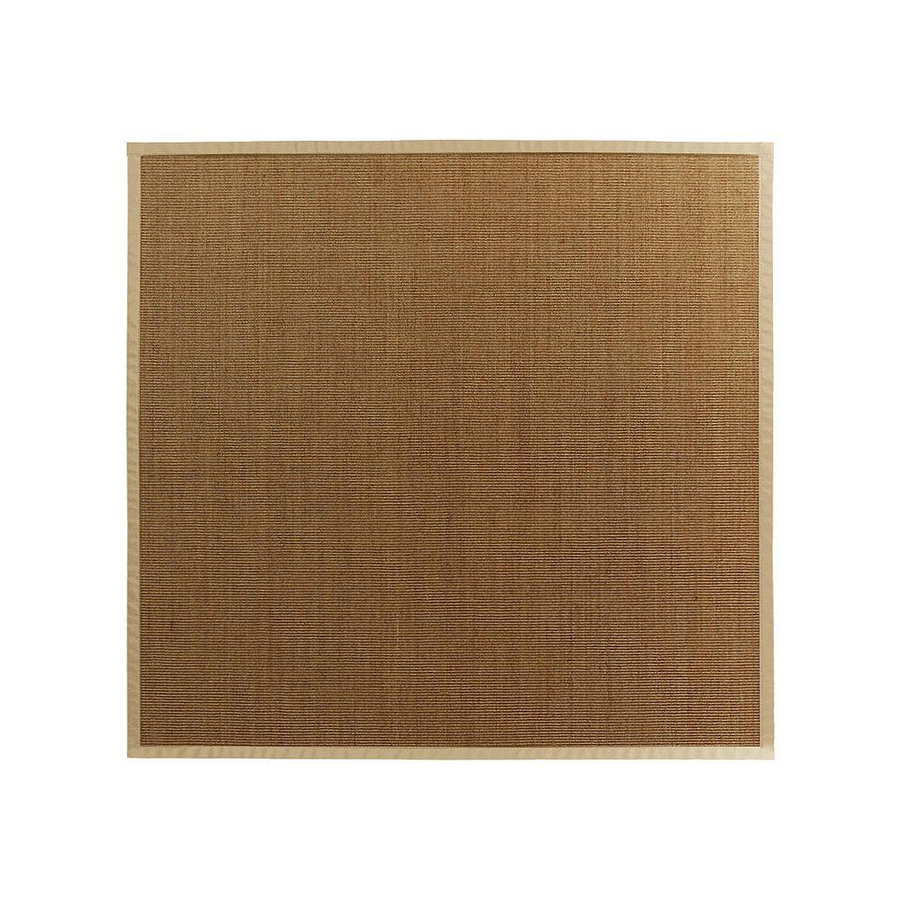 Lanart Rug Carpette d'intérieur, 8 pi. x 8 pi. tissage texturé, rectangulaire, sisal naturel, beige