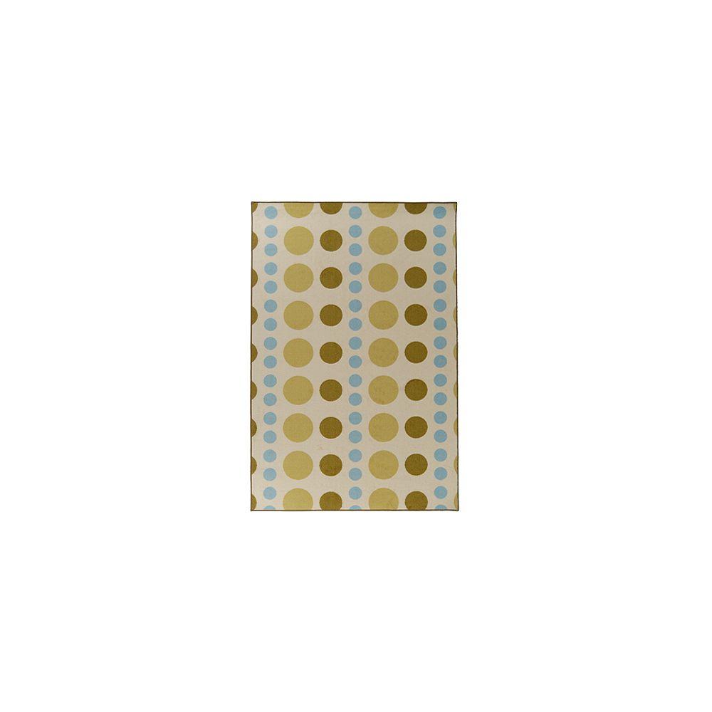 Lanart Rug Carpette d'intérieur pour enfants, 9 pi x 10 pi, style contemporain, rectangulaire, vert Designer Kids