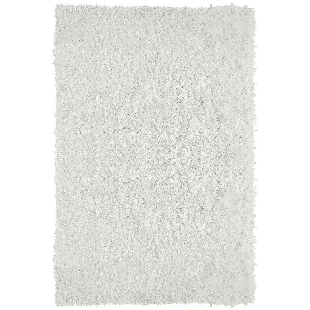 Lanart Rug Carpette d'intérieur, 9 pi x 10 pi, à poils longs, rectangulaire, blanc City Sheen