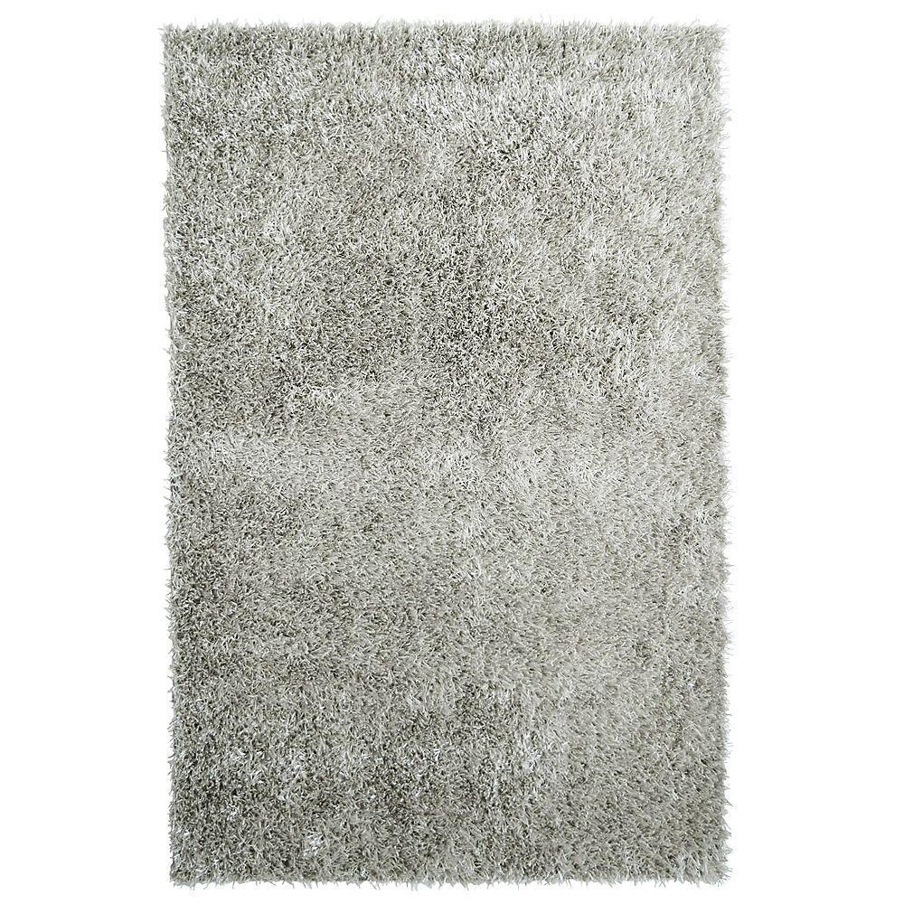 Lanart Rug Carpette d'intérieur, 9 pi x 12 pi, à poils longs, rectangulaire, gris City Sheen