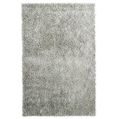 Carpette d'intérieur, 9 pi x 12 pi, à poils longs, rectangulaire, gris City Sheen