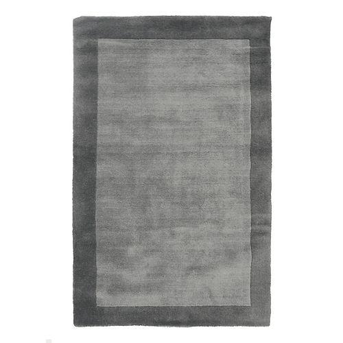 Lanart Rug Hampton Grey 5 ft. x 7 ft. Indoor Textured Rectangular Area Rug
