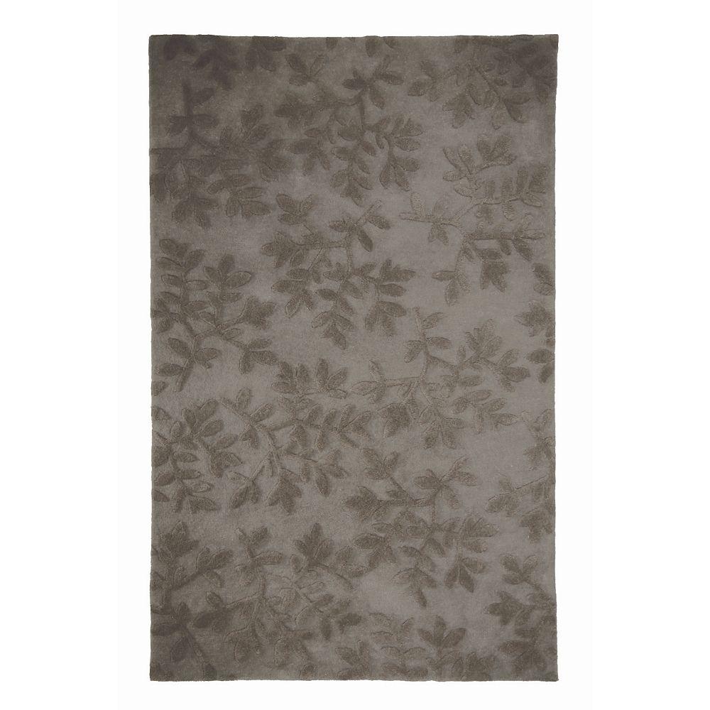 Lanart Rug Vineyard Grey 8 ft. x 10 ft. Indoor Contemporary Rectangular Area Rug