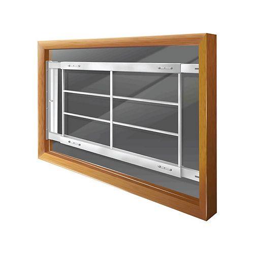 Mr. Goodbar 202 D 52-inch to 64-inch W Hinged Window Bar