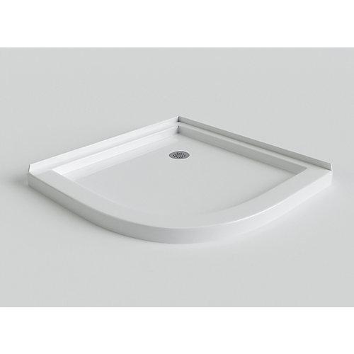 Sorrento 38 Inch Acrylic Round Front Shower Base