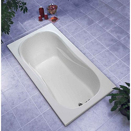 Newport 5 ft. Acrylic Drop-in Non Whirlpool Bathtub Rectangular in White