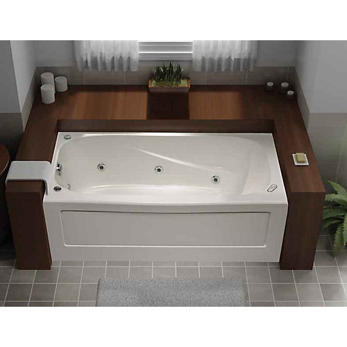 Tucson 5-ft. Acrylic Whirlpool Bathtub in White