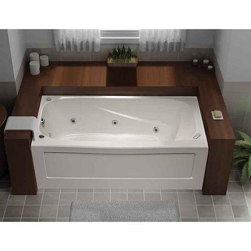 Mirolin Tucson 5-ft. Acrylic Whirlpool Bathtub in White