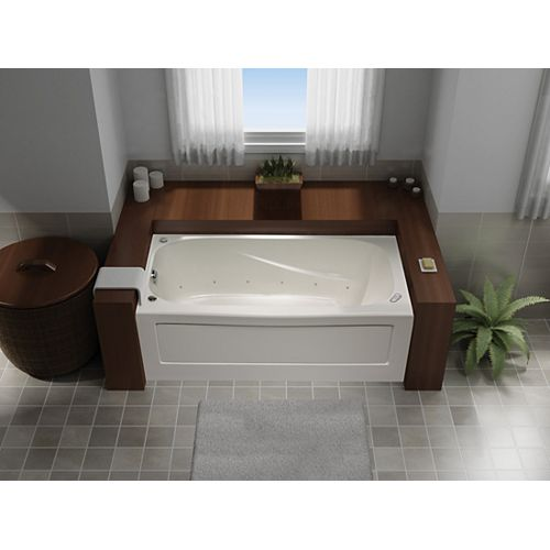 Tucson 5 Feet Acrylic Whirlpool Bathtub