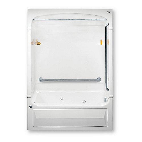 Barrier Free 62-inch x 86-inch x 34-inch 4-shelf Acrylic Tub & Shower