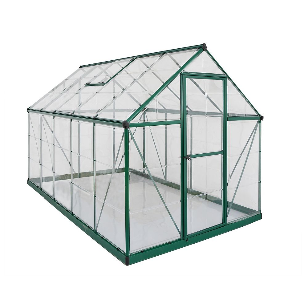 Palram Deluxe Nature Series 6 ft. x 10 ft. Green Greenhouse