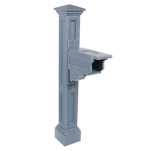 Poteau de boîte aux lettres Charleston Plus (granite)