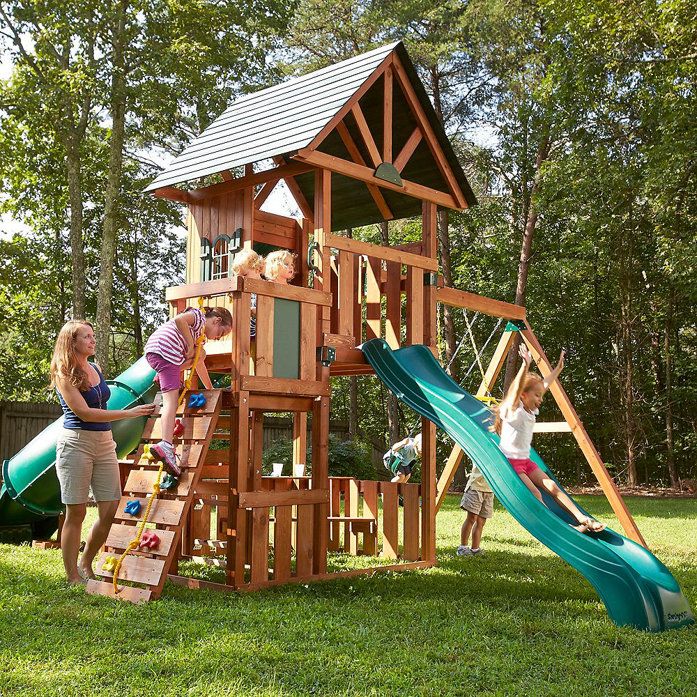 Swing-N-Slide Southampton Wood Complete Playset