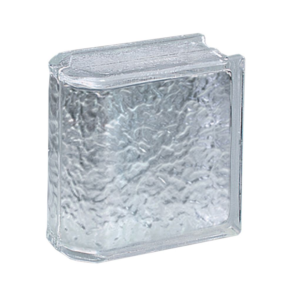 Pittsburgh Corning IceScapes Premiere Endblock 8 Inch  x 8 Inch  x 4 Inch - Case of 4