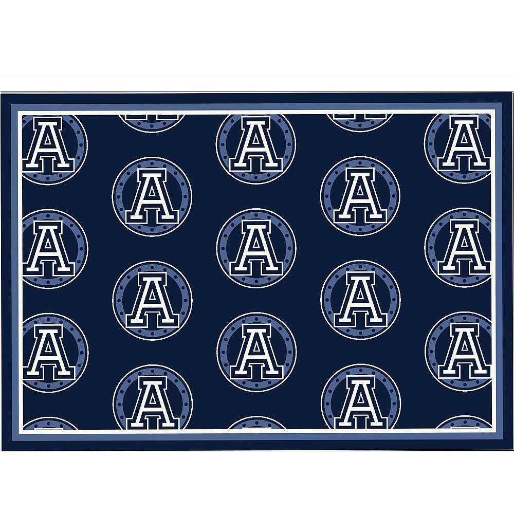 CFL Carpette Toronto Argonauts, 10 pi 9 po x 13 pi 2 po, rectangulaire, bleu