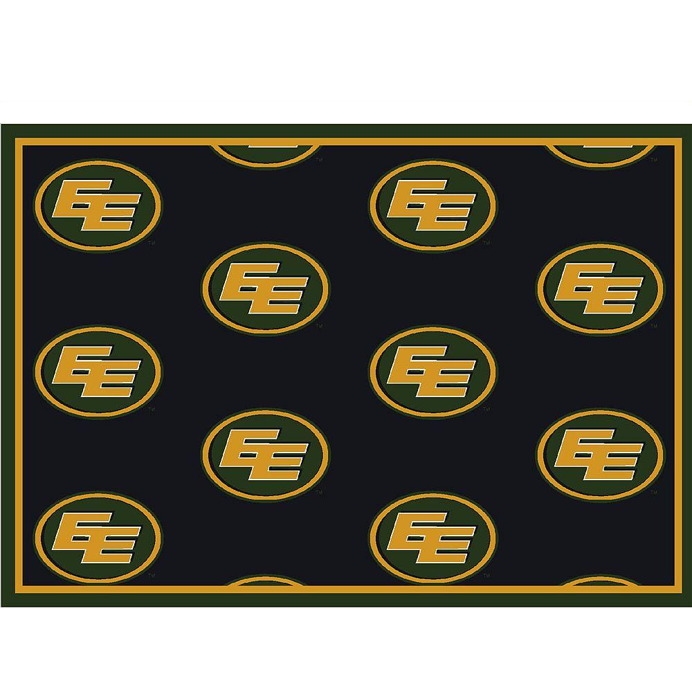 CFL Carpette Edmonton Eskimos, 7 pi 8 po x 10 pi 9 po, rectangulaire, noir