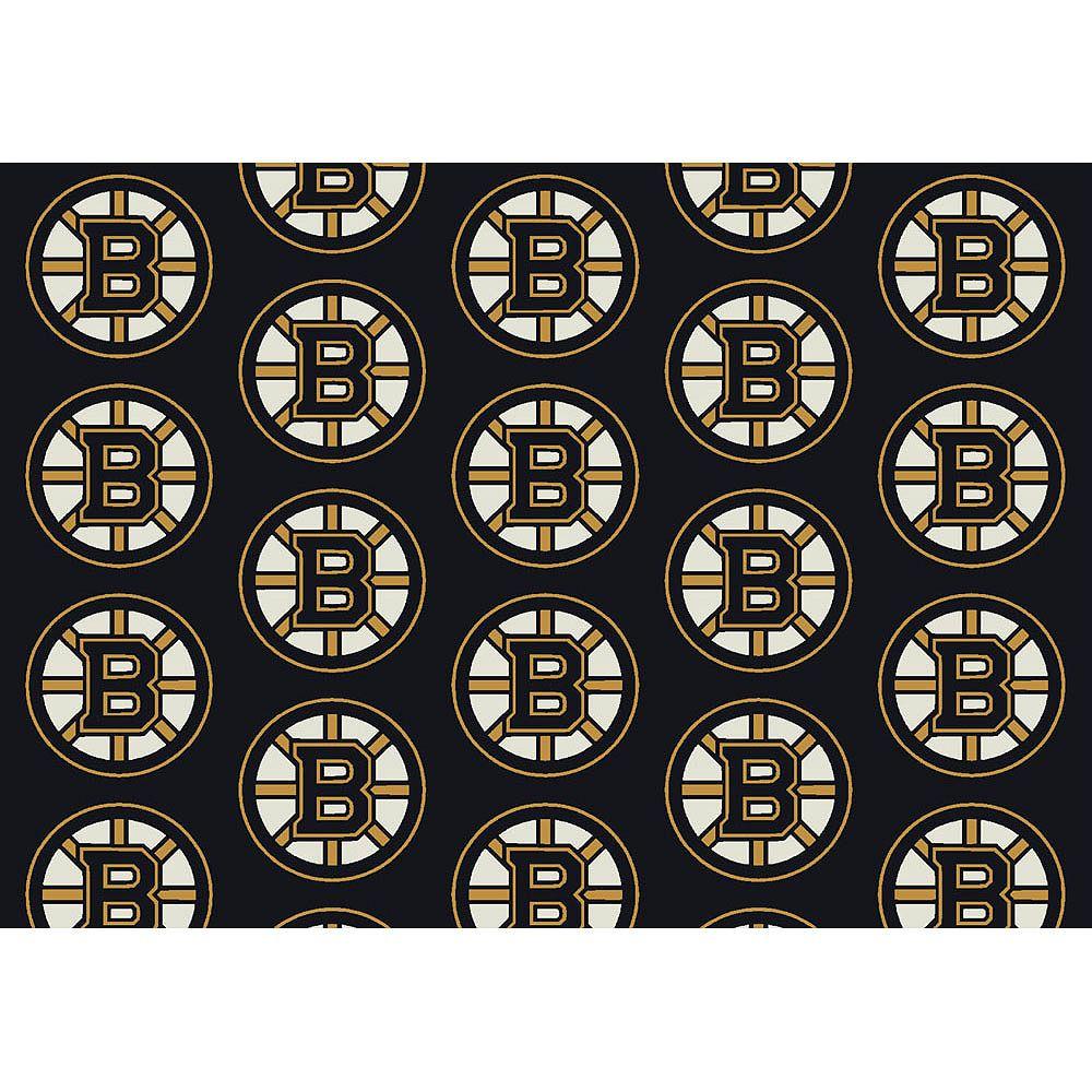 NHL Carpette Boston Bruin, 5 pi 4 po x 7 pi 8 po, rectangulaire, noir