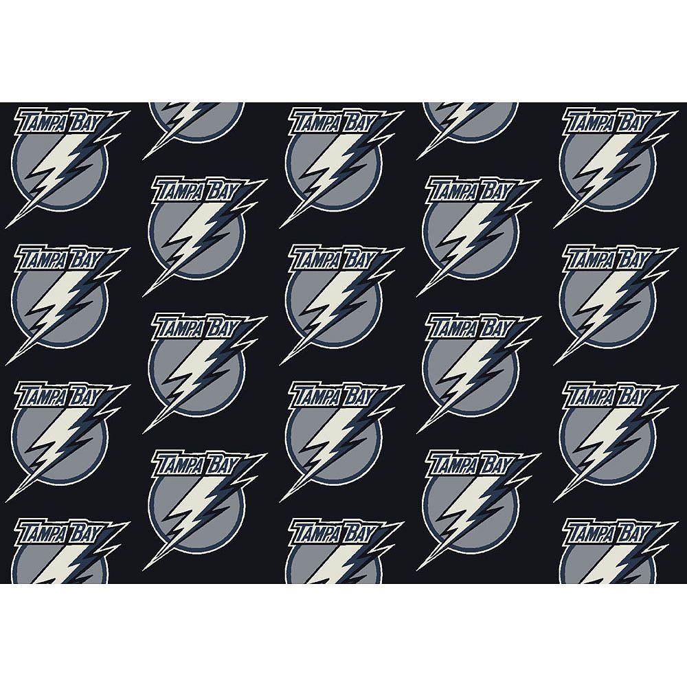 NHL Carpette Tampa Bay Lightning, 10 pi 9 po x 13 pi 2 po, rectangulaire, noir