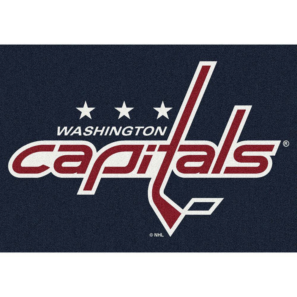 NHL Carpette Washington Capitals, 5 pi 4 po x 7 pi 8 po, rectangulaire, bleu