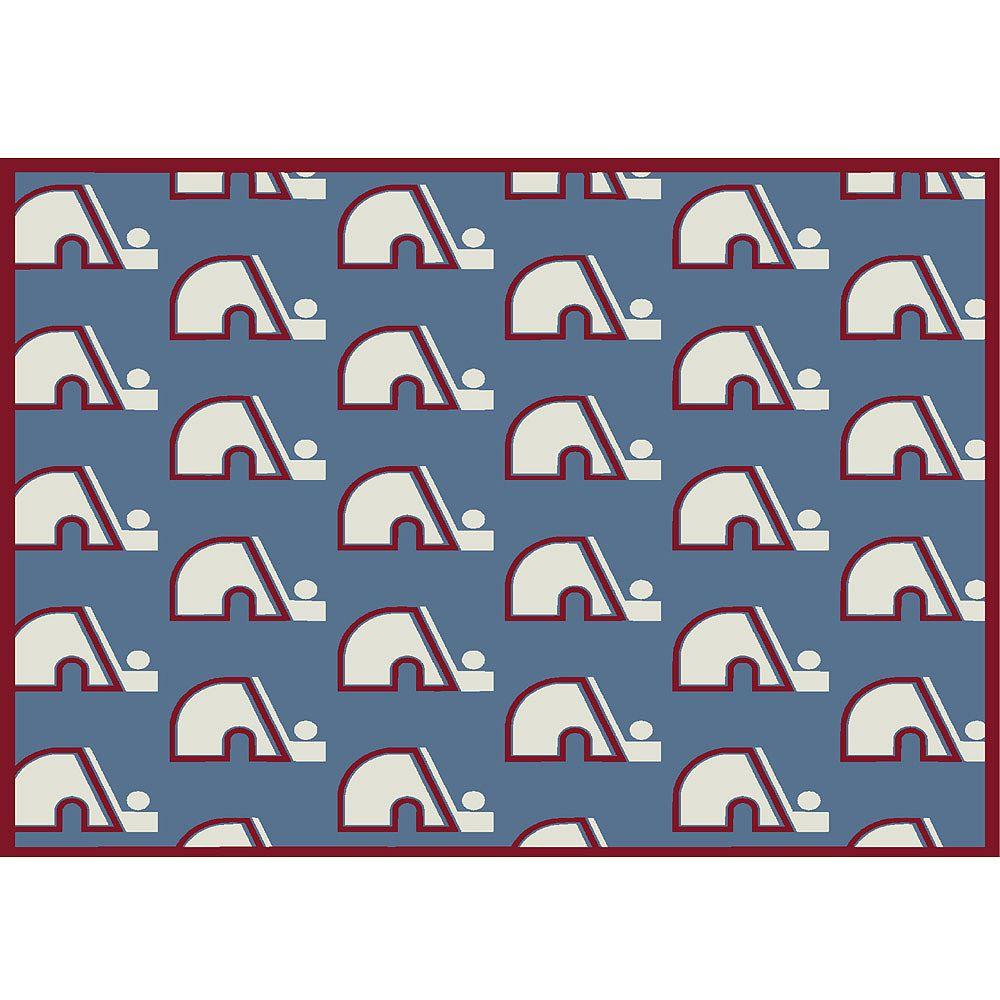 NHL Carpette Vintage Quebec Nordiques, 5 pi 4 po x 7 pi 8 po, rectangulaire, bleu