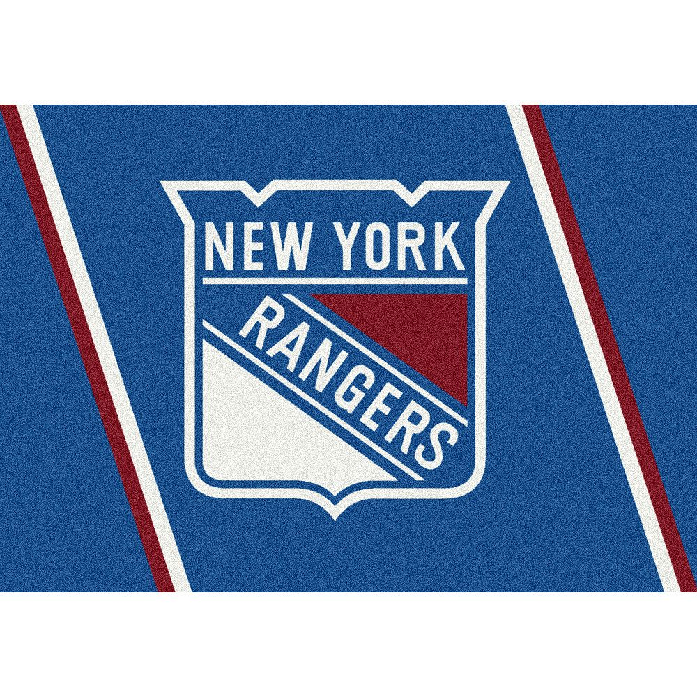 NHL Carpette New York Rangers, 3 pi 10 po x 5 pi 4 po, rectangulaire, bleu