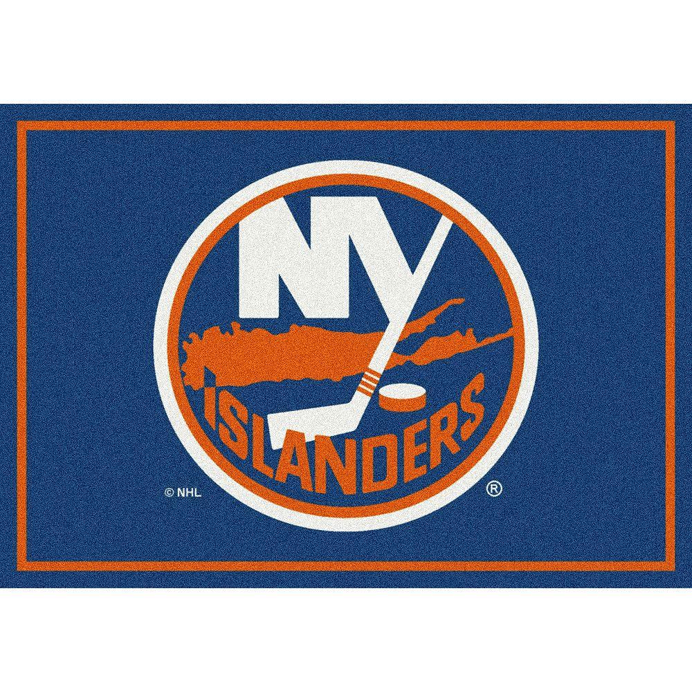 NHL Carpette New York Islanders, 3 pi 10 po x 5 pi 4 po, rectangulaire, bleu