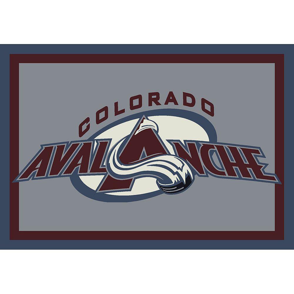 NHL Carpette Colorado Avalanche, 5 pi 4 po x 7 pi 8 po, rectangulaire, bleu