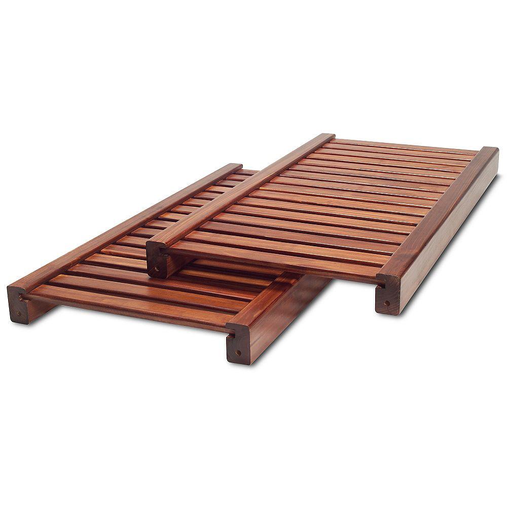 John Louis Home Standard Adjustable Shelves Kit - Red Mahogany