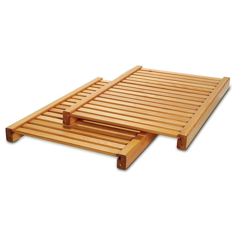 John Louis Home Deluxe Adjustable Shelves Kit - Honey Maple