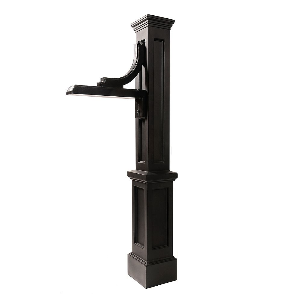 Mayne Woodhaven Address Sign Post in Black