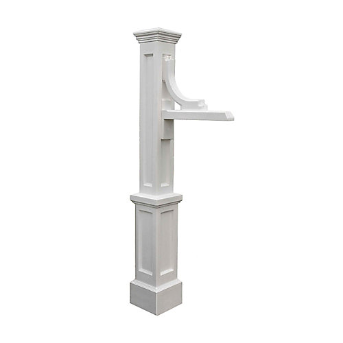 Woodhaven Address Sign Post in White