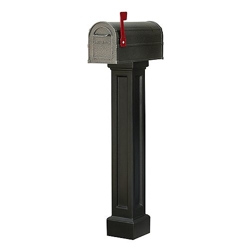 Bradford Mailbox Post in Black
