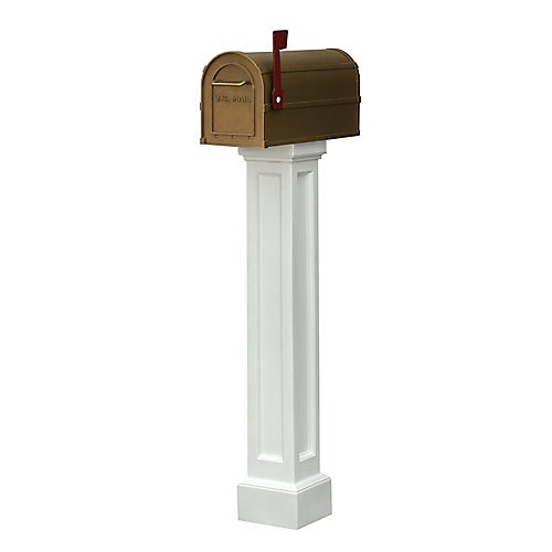 Poteau de boîte aux lettres Bradford (blanc)