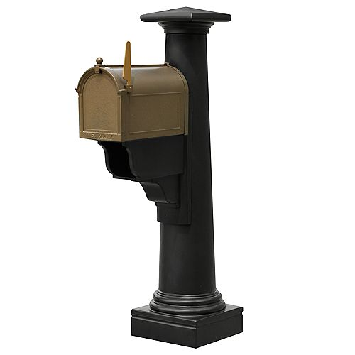 Poteau de boîte aux lettres Statesville (noir)
