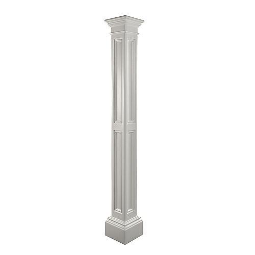 Poteau de lampe de Liberty, Poteau décoratif seulement (blanc)