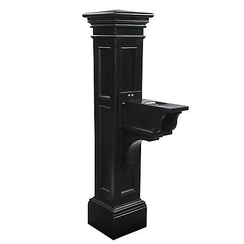 Poteau de lampe de Libety avec le bâti moulu en aluminium de 89 po (noir)