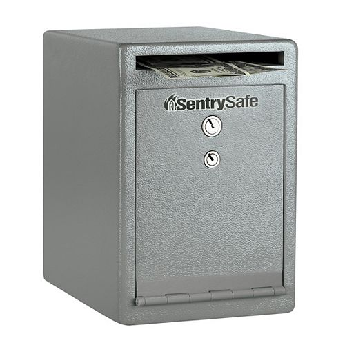 Solid Steel Dual-Key Drop Slot Safe, 0.25 cu.ft.