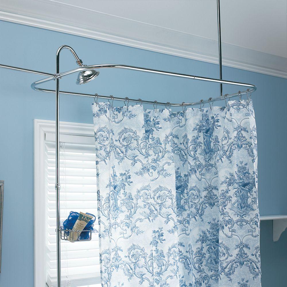 Foremost Trousse de cerceau de douche et conduite ascendante