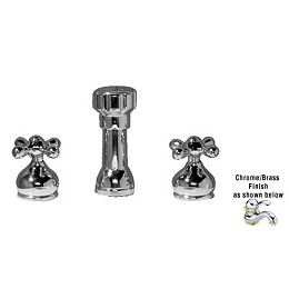 Jasmine Two Handle Bidet Faucet in Polished Chrome/brass