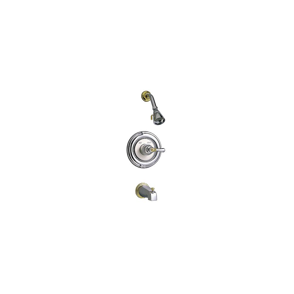 American Standard Williamsburg Single-Handle Tub and Shower Faucet in Satin and Brass