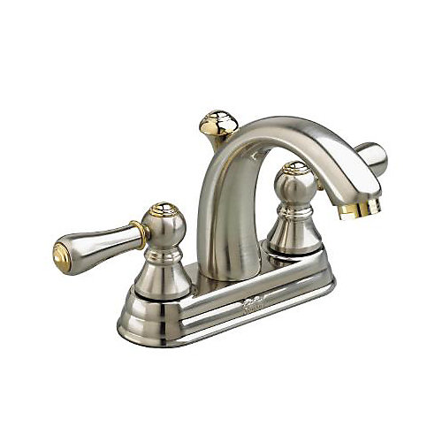 Williamsburg Satin and Brass Lavatory Faucet  4 Inch
