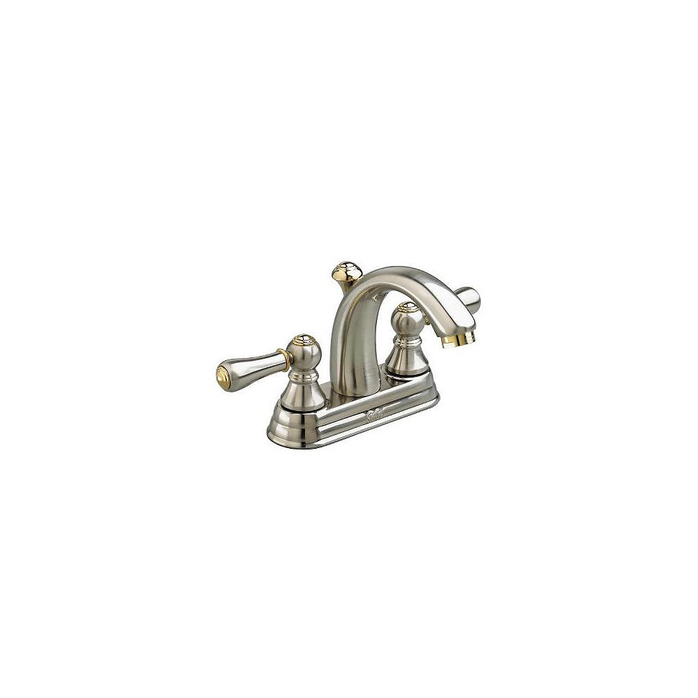 American Standard Williamsburg Satin and Brass Lavatory Faucet  4 Inch