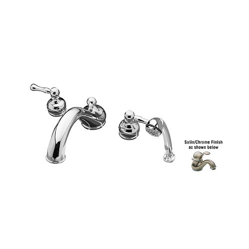 Jasmine 2-Handle Tub Filler in Polished Chrome & Satin