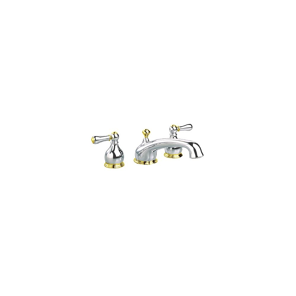 American Standard Williamsburg 2-Handle Deck-Mount Roman Tub Faucet in Chrome and Polished Brass