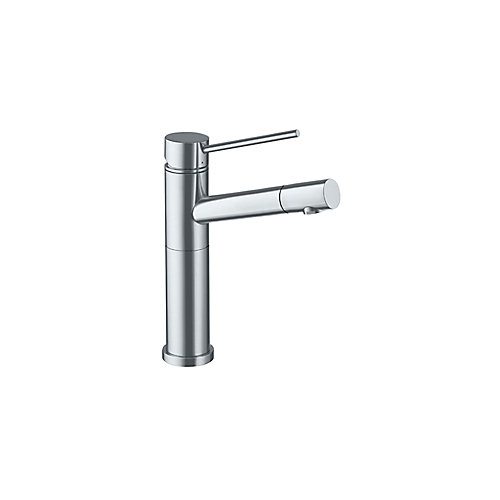 Single Lever, Solid Spout Bar Faucet, Stainless Steel