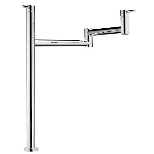 Deck-Mounted, Cold Water Pot Filler, Stainless Steel