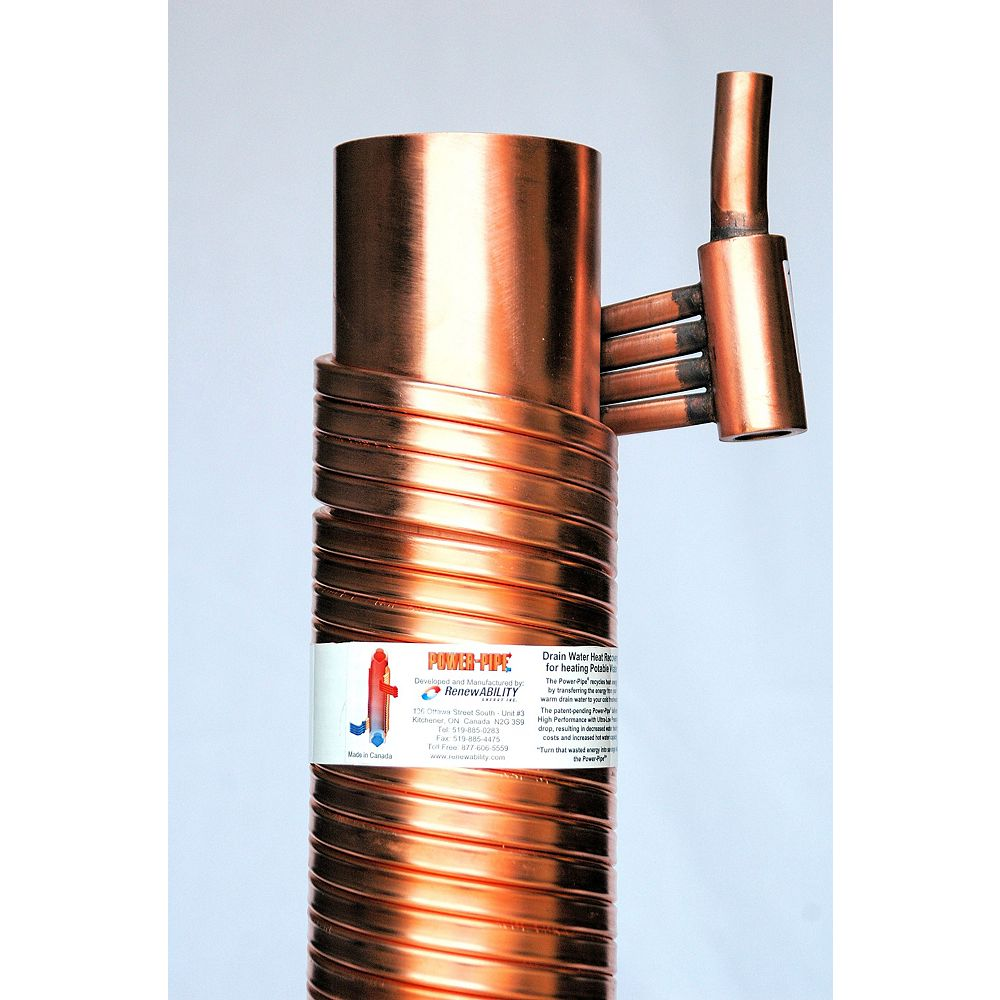 Power-Pipe R4-48 Drain Water Heat Recovery Unit