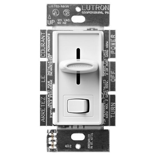 Skylark  600w Preset Slide Dimmer in White