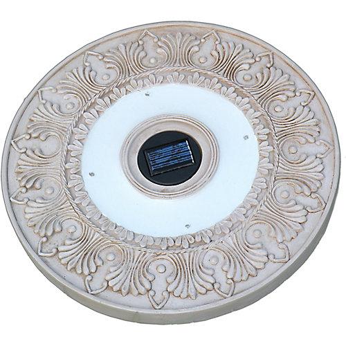 Dalle solaire carrée couleur de la chaux,vendues en jeu de 3 lumières