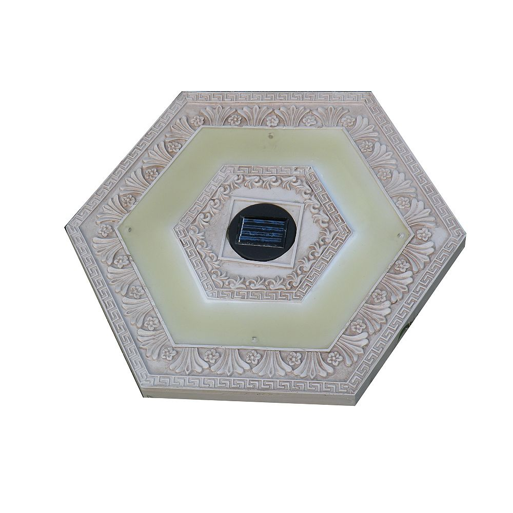 HomeBrite Solar White Solar Stepping Stone, Hexagon - (Set of 3)